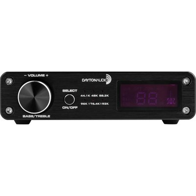Dayton Audio DTA-PRO 100W Class D Bluetooth Amplifier with USB DAC IR Remote and Sub Output