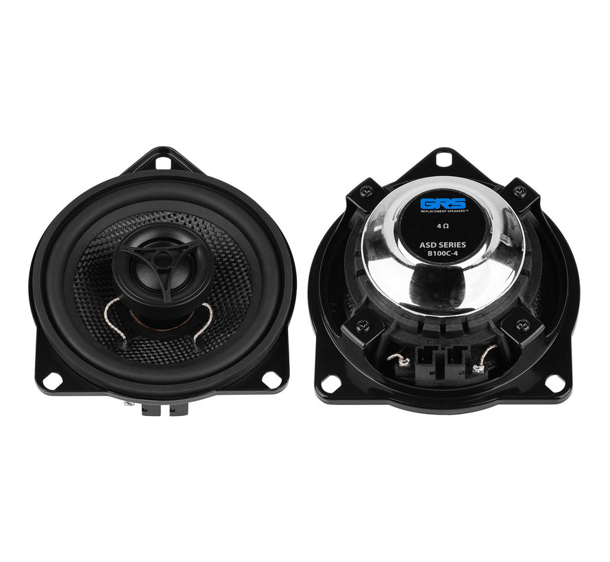 "B100C-4 ASD Series 4"" Glass Fiber Cone Coaxial Speaker Pair Upgrade Kit for Select BMW Models"