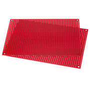 Red Perforated Crossover Board | Pair | 12,70 x 17,78 cm