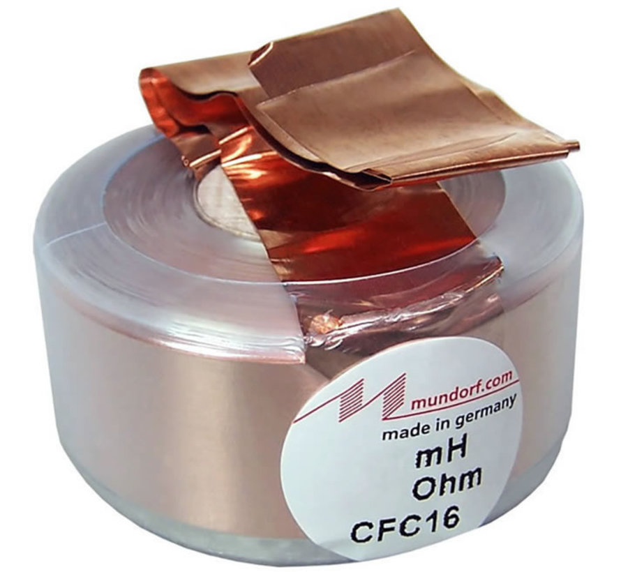 CFC16-0,39 | 0,39 mH | 0,20 Ω | 2% | 16,5 AWG | MCoil Foil crossover coil