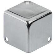 Monacor MZF-8502 Metal Case Corner | Nickel-Plated