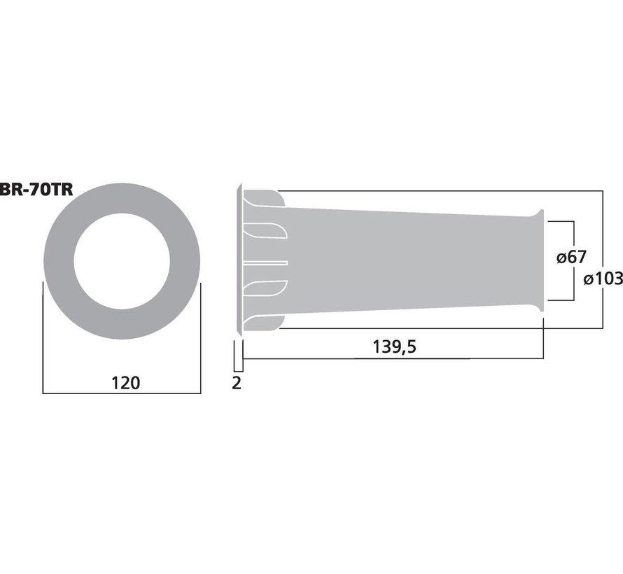 BR-70TR Bassreflex Tube | 67 x 139,5 mm