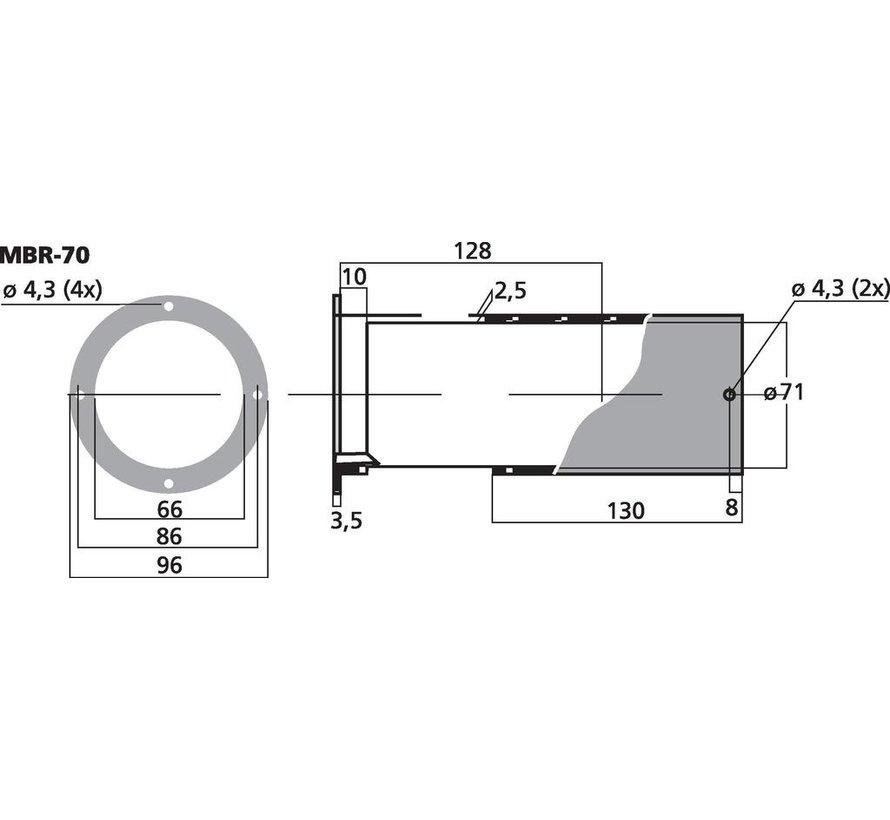 MBR-70 Adjustable Bassreflex Tube   66 x 128-245 mm