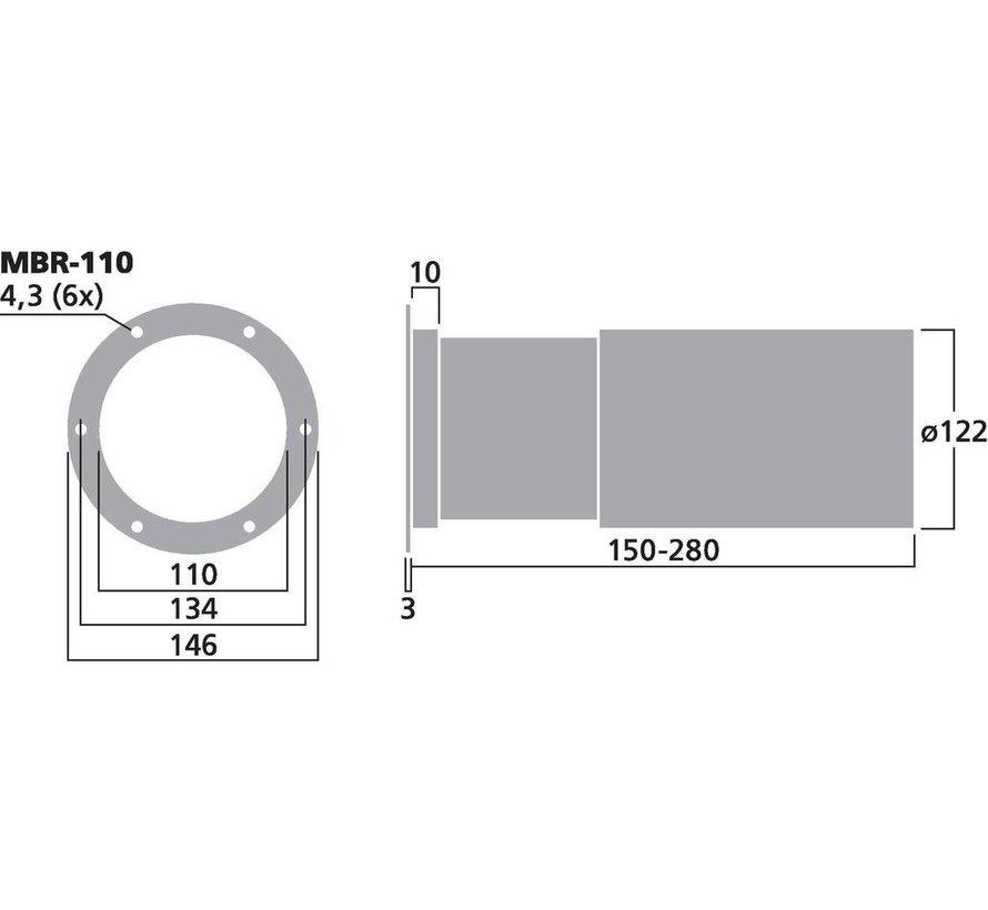MBR-110 Adjustable Bassreflex Tube | 110 x 150-280 mm