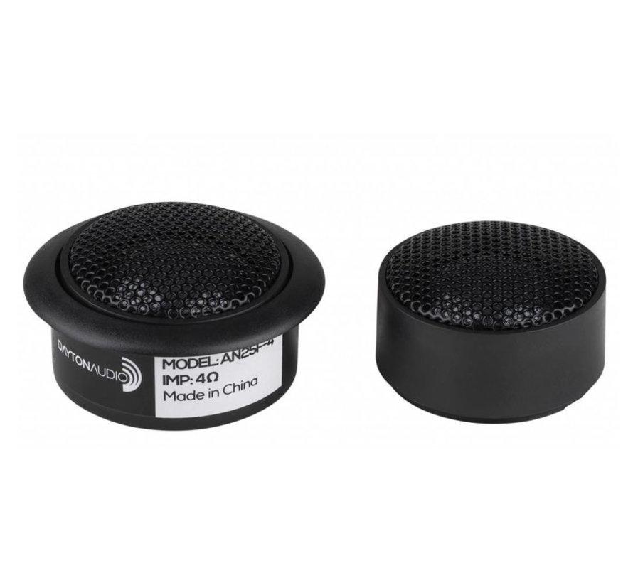 "AN25F-4 1"" Soft Dome Neodymium Car Audio Tweeter Pair 4 Ohm"