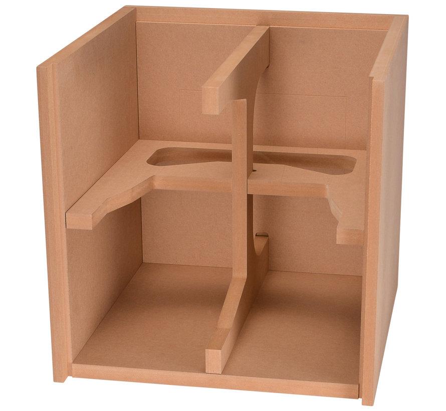 "Knock-Down MDF 1.25 cu. ft. Subwoofer Cabinet for 10"" Subwoofers"