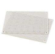 White Perforated Crossover Board | Pair | 8,89 x 12,70 cm
