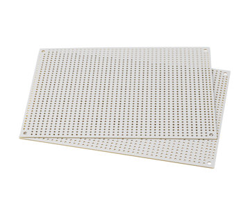 WhitePerforated Crossover Board | Pair | 12,70 x 17,78 cm