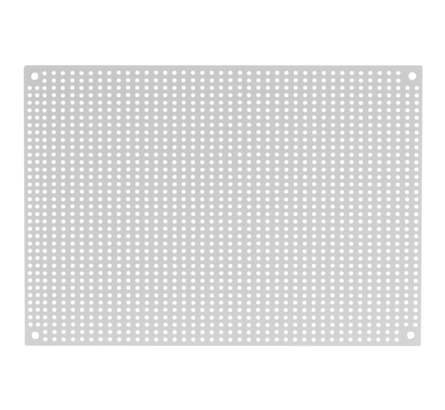 White Perforated Crossover Board | Pair | 12,70 x 17,78 cm