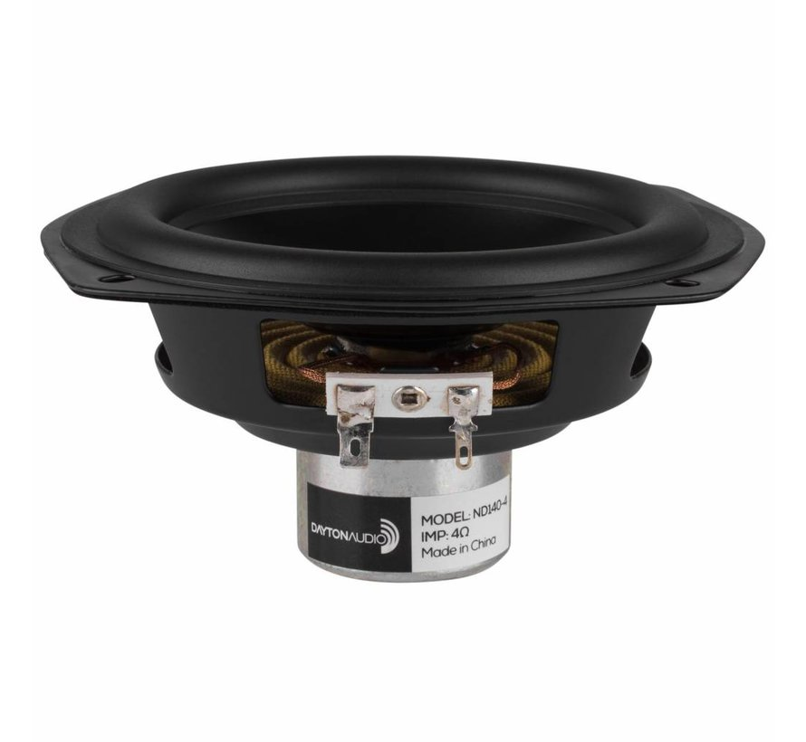 "ND140-4 5-1/4"" Aluminum Cone Midbass Driver 4 Ohm"