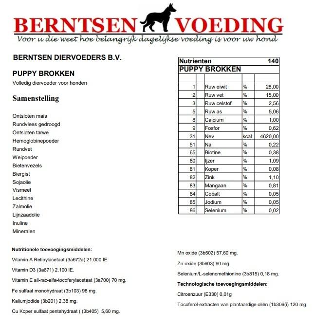 Berntsen Puppy Brok