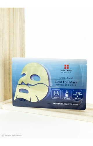 Leaders Cosmetics Ex Solution aqua shield gold foil mask