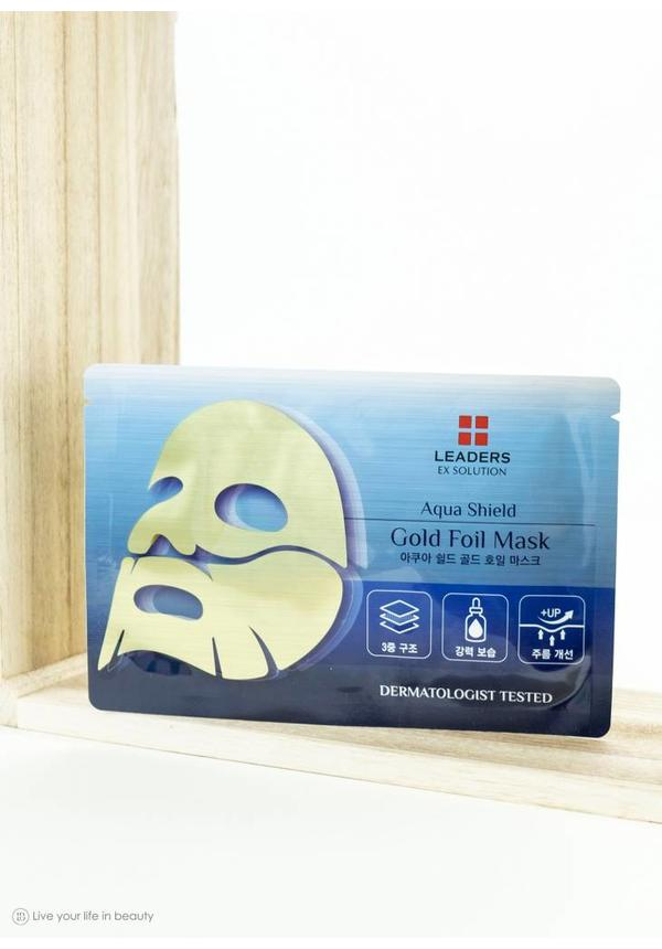 Ex Solution aqua shield gold foil mask