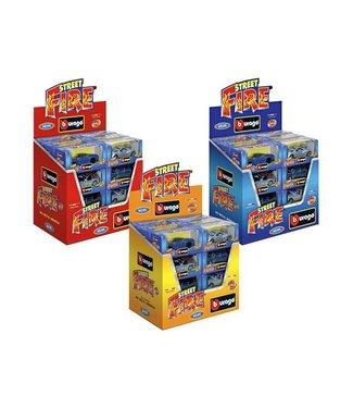 Burago 1:43 Fire Cars display