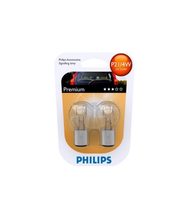 Philips Autolamp P21/4 op blister