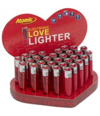 Aansteker Atomic I Love you 30x