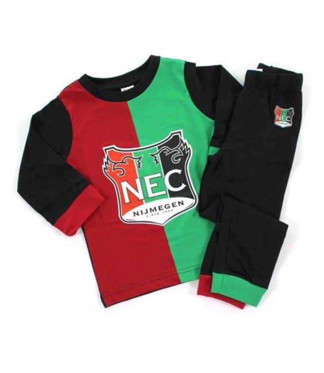 NEC Pyjama Rood Groen 128