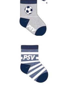 PSV Babysokken 2 pack 6-12 maanden