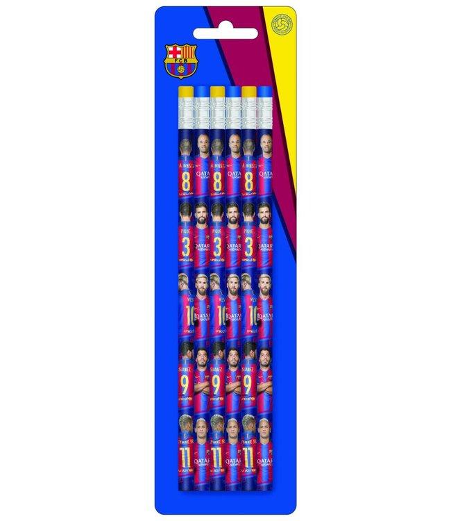 FC BARCELONA Potloden 6 stuks