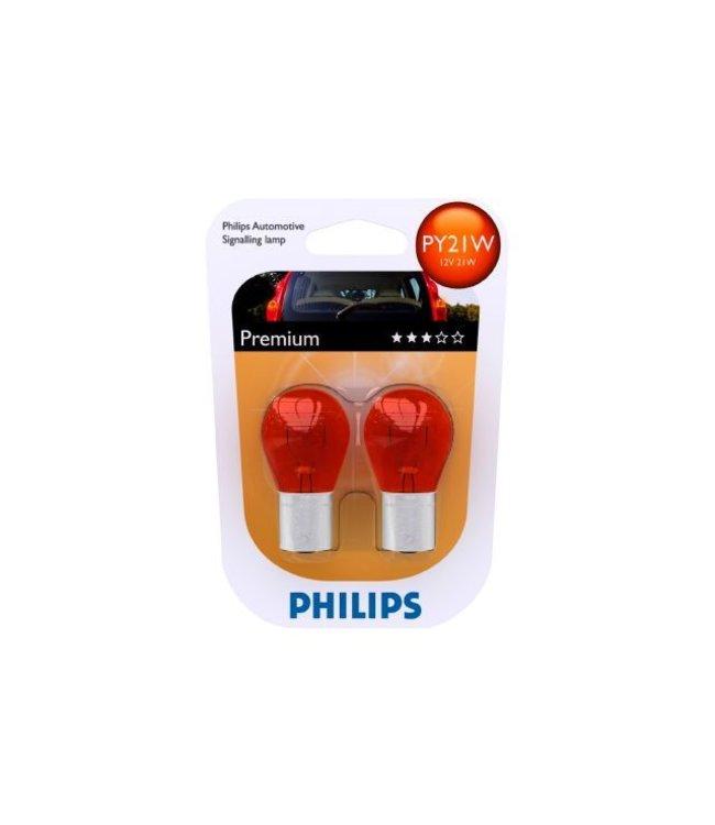 Philips Autolamp PY21W 12 volt op blister
