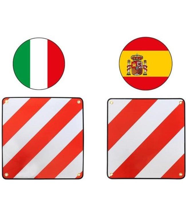 Markeringsbord Aluminium 50x50cm voor Italie/ Spanje 2 in 1