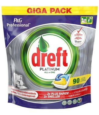 Dreft Platinum - All in One Lemon - 90 stuks -Vaatwastabs