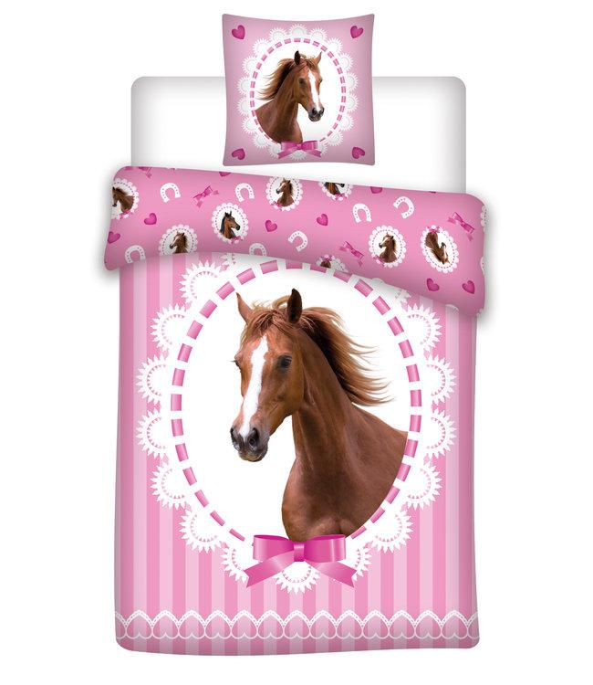 Paarden Dekbedovertrek 140x200 cm