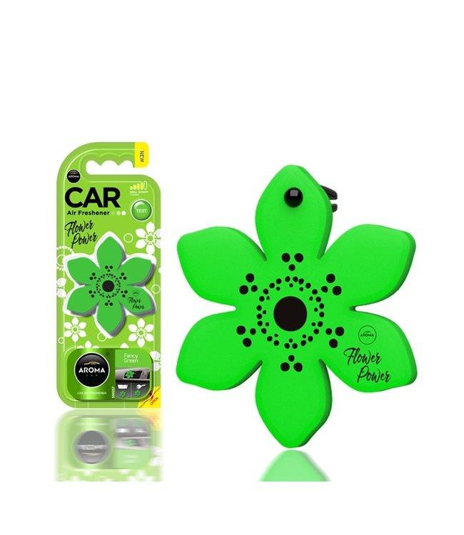 Aroma Car Flower Fancy Green
