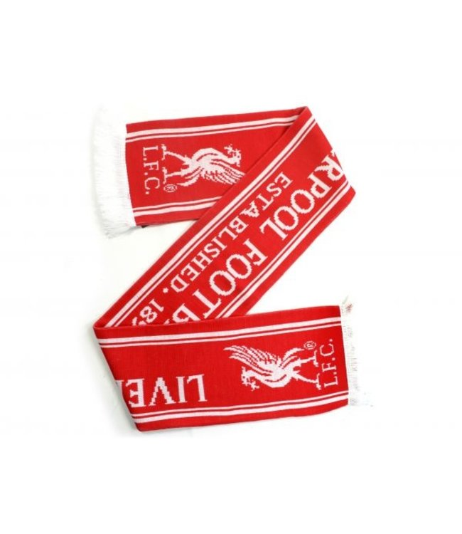 LIVERPOOL Sjaal Rood Wit / Wit logo 592