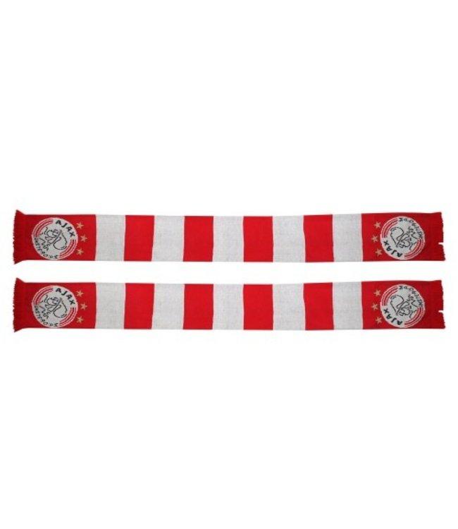 AJAX Sjaal geblokt rood/wit 3 ster