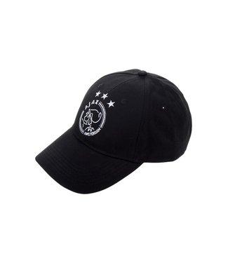 AJAX Cap Zwart logo Volwassen Witte sterren