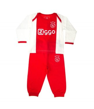 AJAX Baby Pyjama Wit rood wit Ziggo 86/92