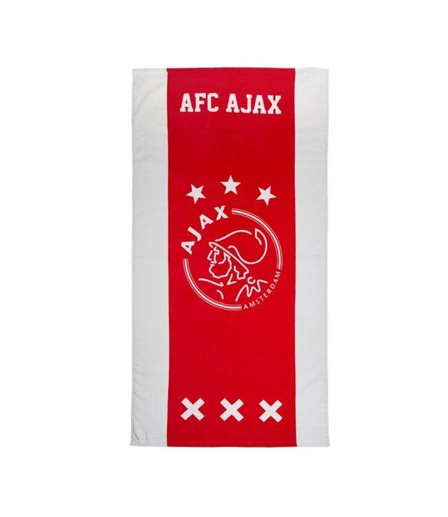 AJAX Handdoek wit rood wit 50x100cm
