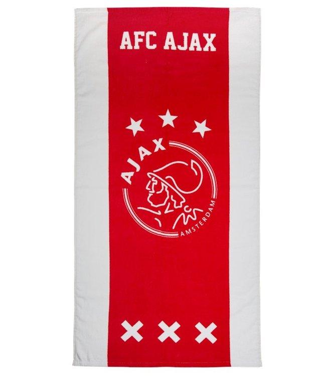 AJAX Handdoek wit rood wit 70x140 cm
