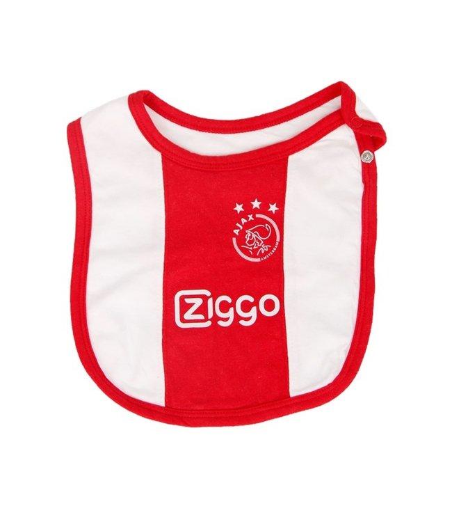 AJAX Slabbetje wit rood wit Ziggo