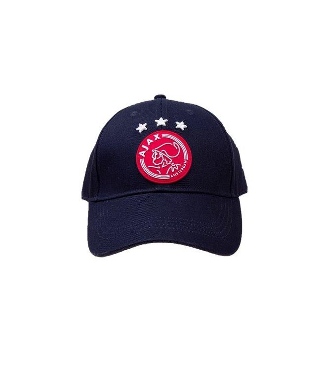 AJAX Cap Navy Blauw Rood logo volwassen