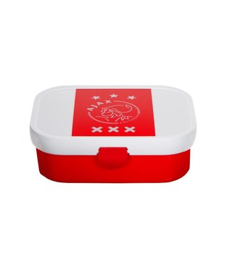 AJAX Lunchbox wit-rood-wit logo
