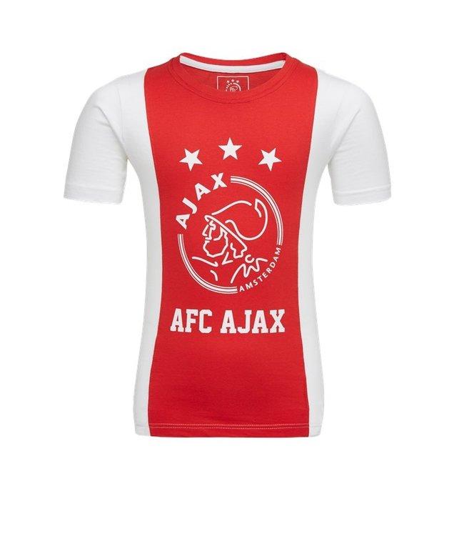AJAX T-Shirt Rood Wit Logo L