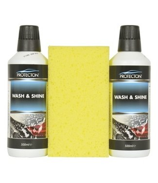Wash & Shine set met spons Protecton