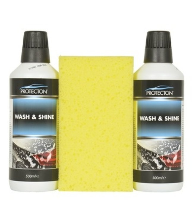 Wash & Shine set met spons Protecton