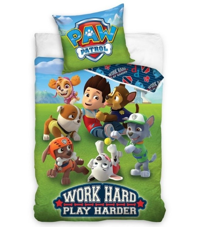 PAW PATROL Dekbedovertrek Word Hard 964