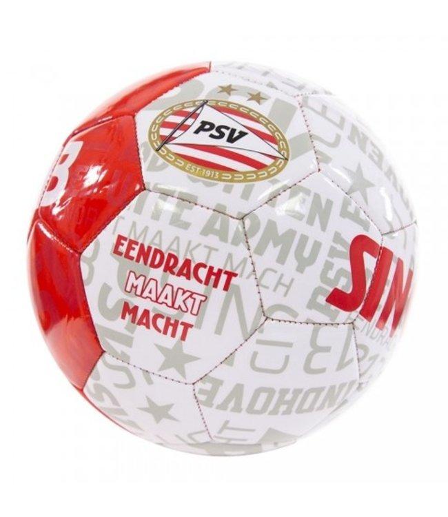 PSV Voetbal Teksten Rood Wit ( maat 5)
