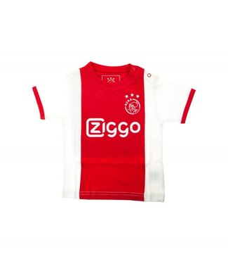 AJAX Baby t-shirt wit rood wit Ziggo 62/68