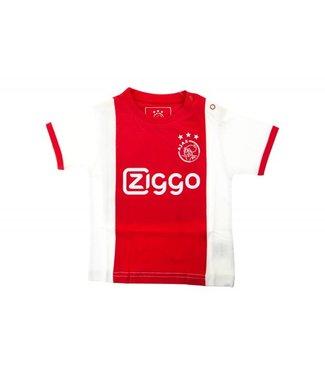 AJAX Baby t-shirt wit rood wit Ziggo 86/92