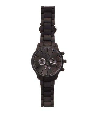 AJAX Horloge Zwart met Metalen Band