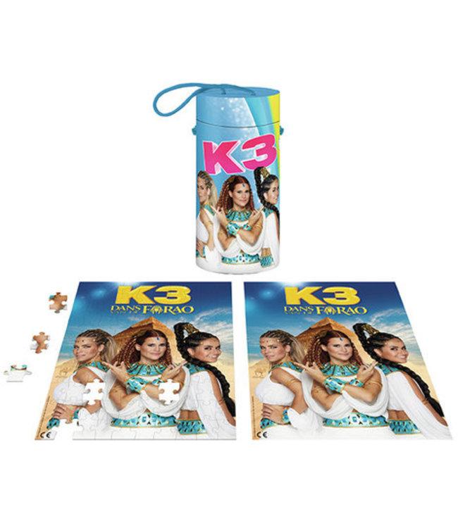 K3 Puzzel met poster: 100 stukjes