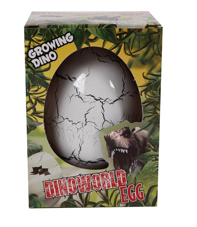 DinoWorld jumbo ei met groeiende dinosaurus 6ass 11cm