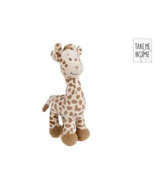 Giraffe pluche beige staand 33cm
