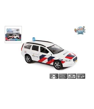 Politie Volvo V70 NL die cast pb licht geluid 12cm