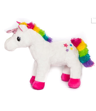 Unicorn pluche staand 26cm wit Take Me Home